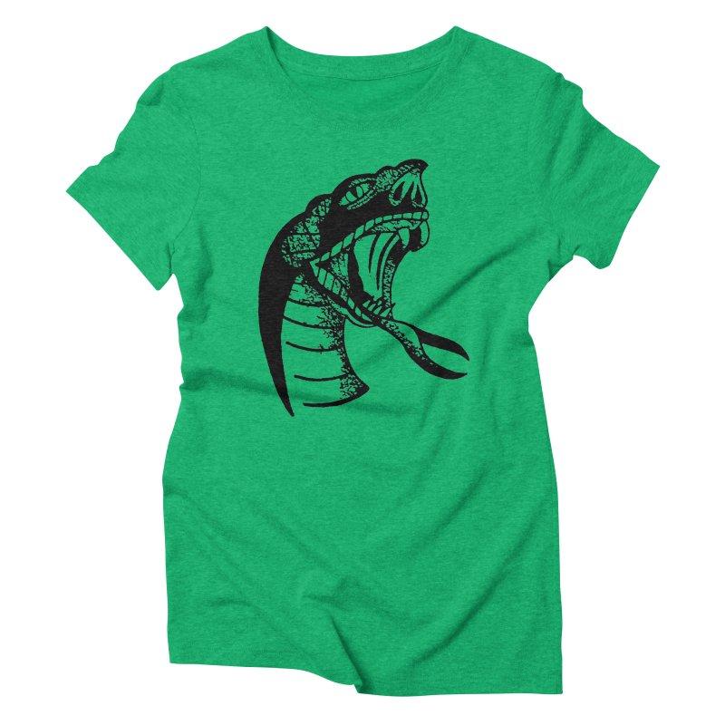 BLXCK SNAKE Women's Triblend T-shirt by Hvmos Artist Shop
