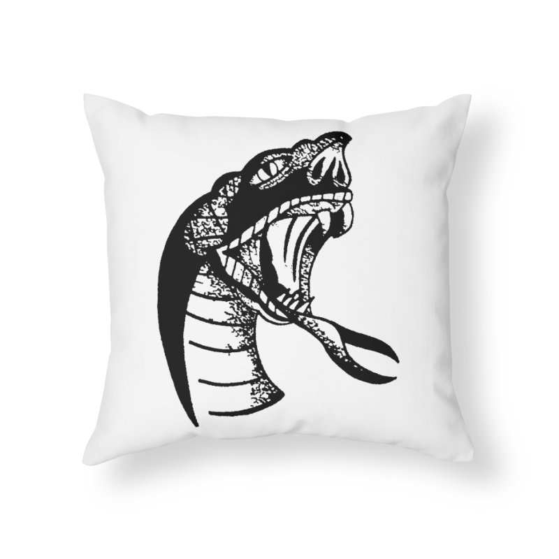 BLXCK SNAKE Home Throw Pillow by Hvmos Artist Shop