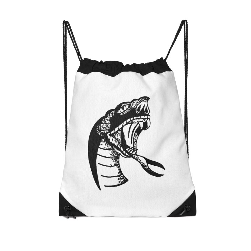 BLXCK SNAKE Accessories Drawstring Bag Bag by Hvmos Artist Shop