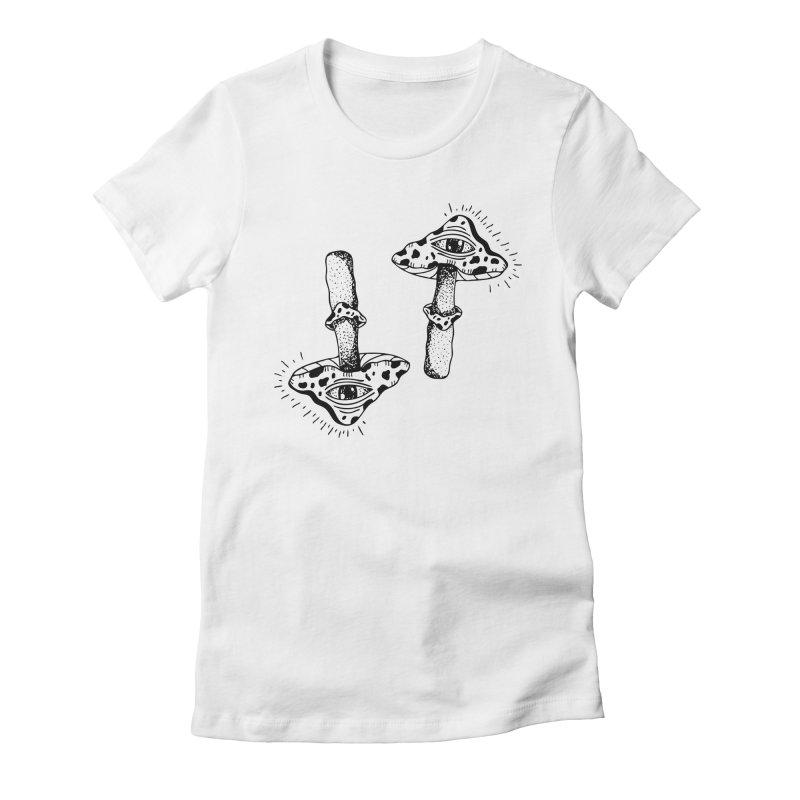 MAGIC MUSHROOM  Women's Fitted T-Shirt by Hvmos Artist Shop