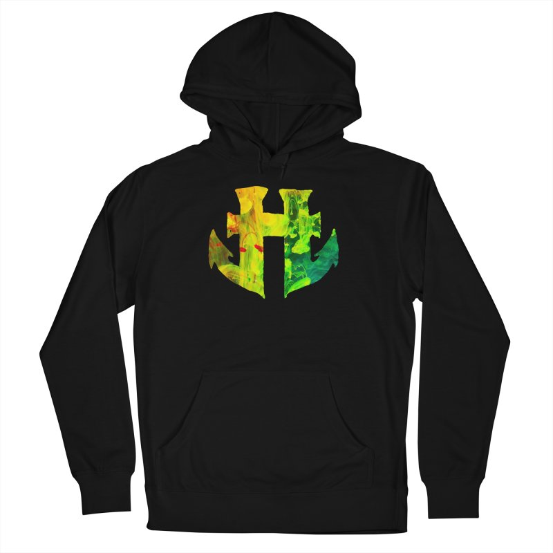 Odd Aquatic #001 Anchor Venom in Men's French Terry Pullover Hoody Black by Humanoid Wakeboards
