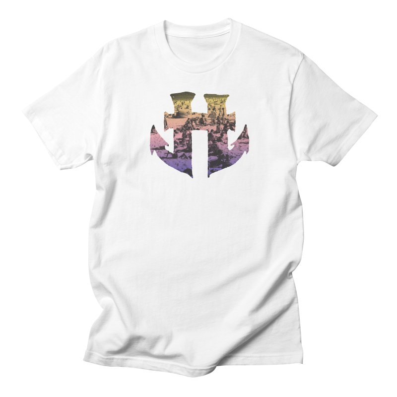 Odd Aquatic #002 Beachside in Men's T-Shirt White by Humanoid Wakeboards