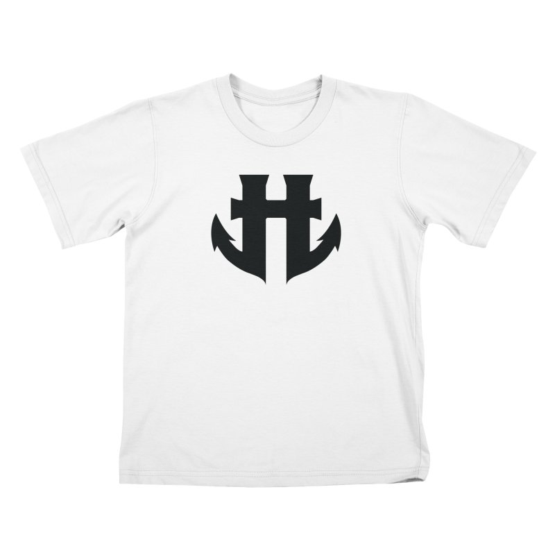 Standard Split Anchor Classic Black Kids T-Shirt by Humanoid Wakeboards