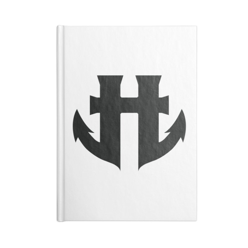 Standard Split Anchor Classic Black Accessories Blank Journal Notebook by Humanoid Wakeboards