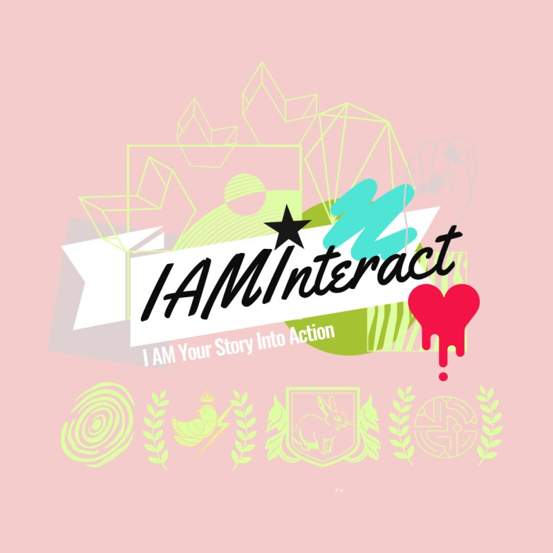 """Artist @corsoarts for #IAMInteract Logo Art """"I AM Your Story"""" Men's Pullover Hoody by IAMInteract's Artist Shop"""