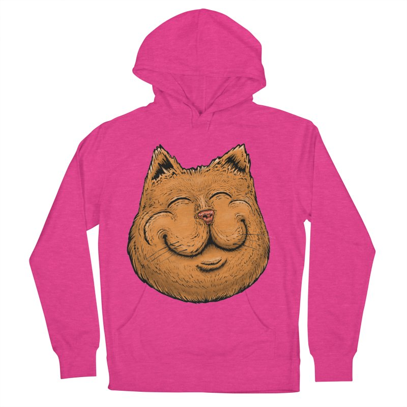 Happy Cat Women's French Terry Pullover Hoody by Stiky Shop