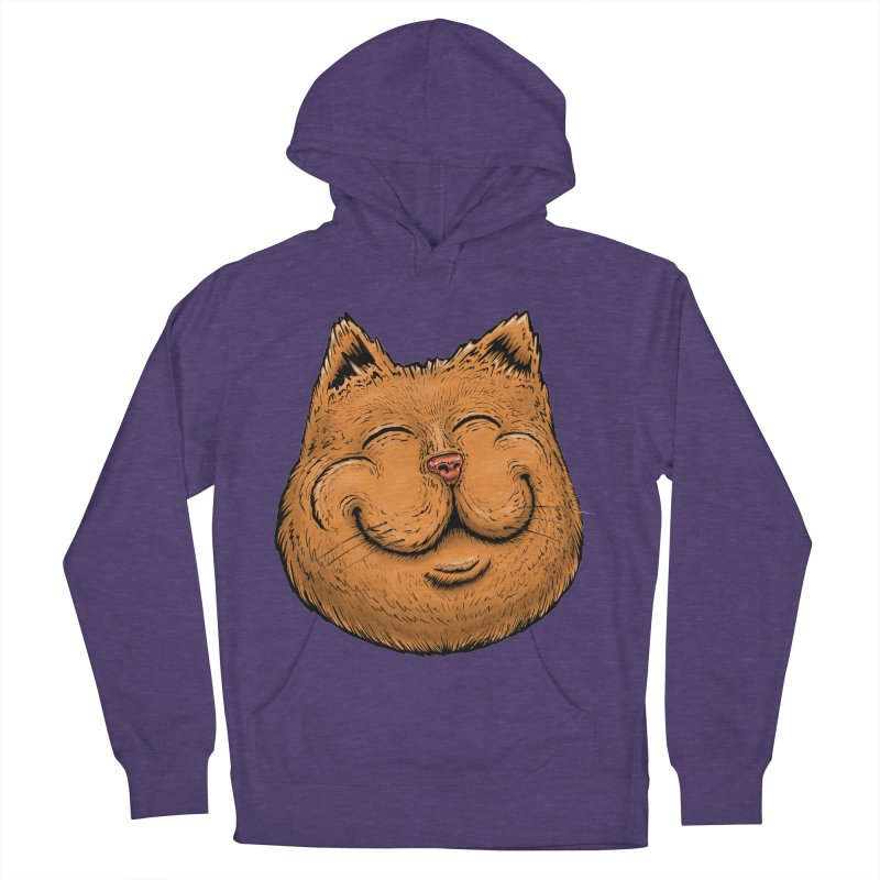 Happy Cat Men's French Terry Pullover Hoody by Stiky Shop