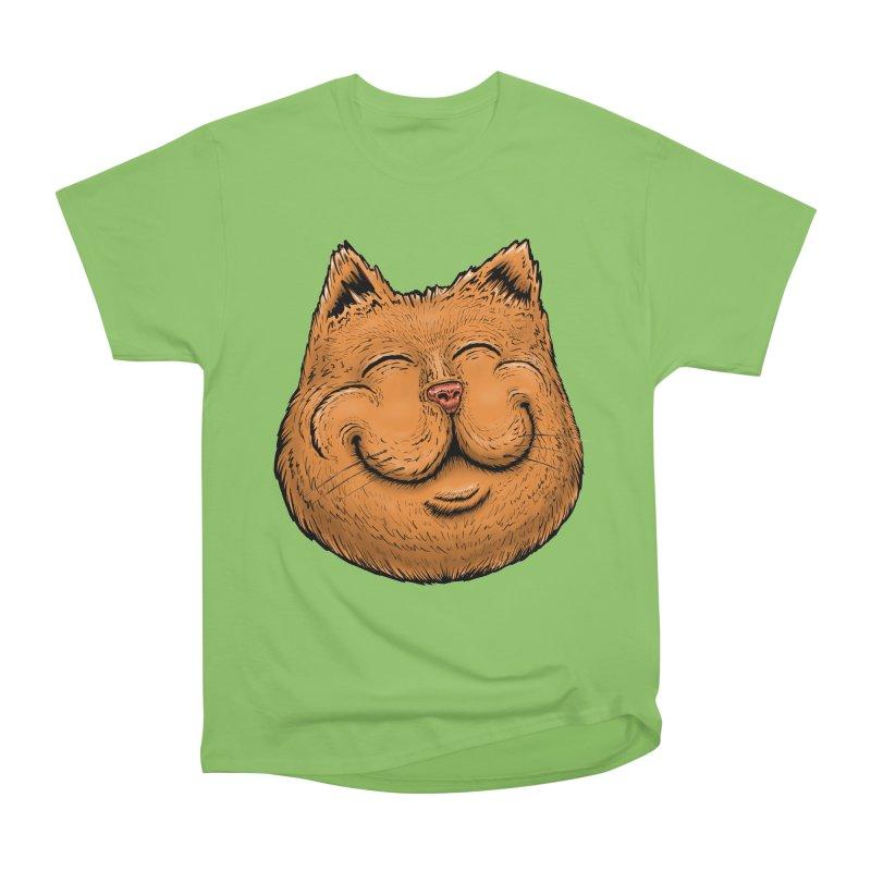 Happy Cat Women's Heavyweight Unisex T-Shirt by Stiky Shop