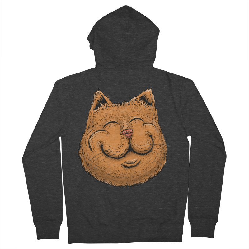 Happy Cat Women's French Terry Zip-Up Hoody by IDC Art House