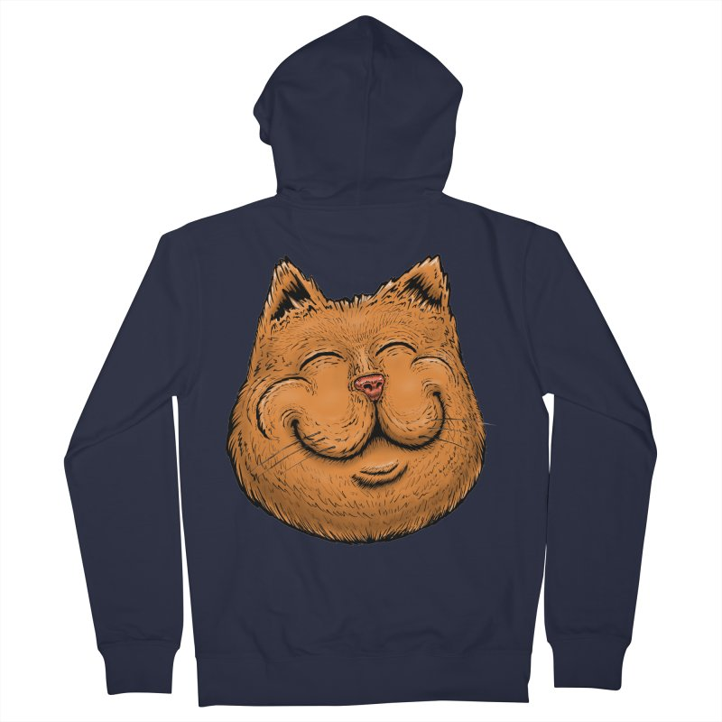 Happy Cat Men's French Terry Zip-Up Hoody by Stiky Shop