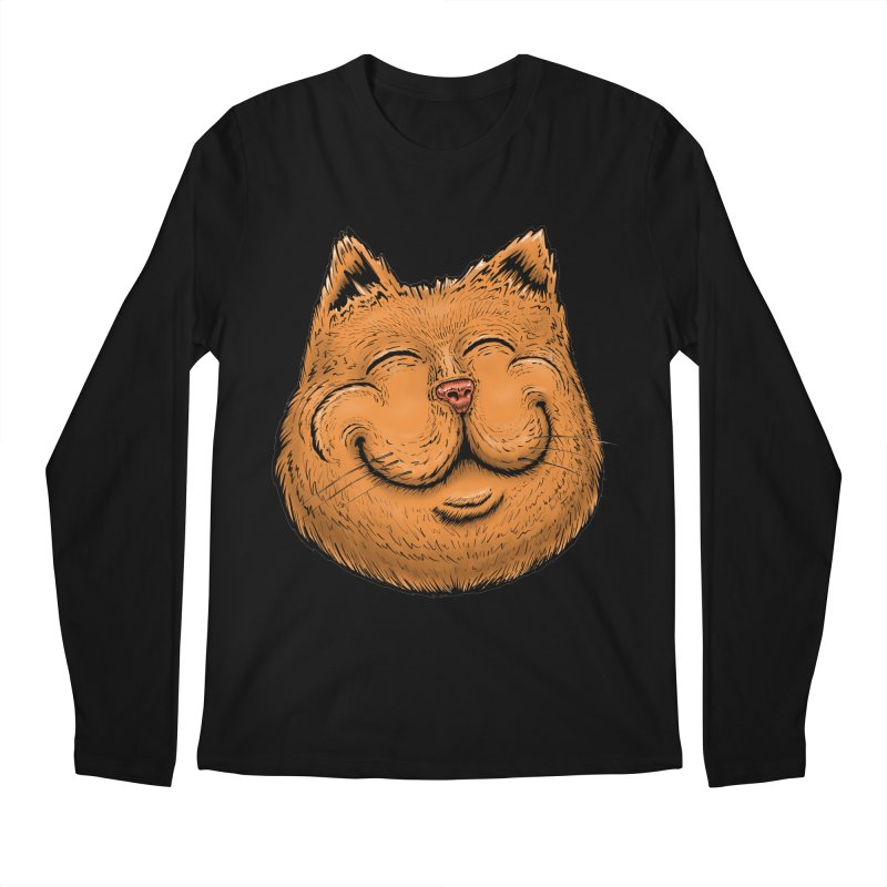 Happy Cat Men's Regular Longsleeve T-Shirt by Stiky Shop