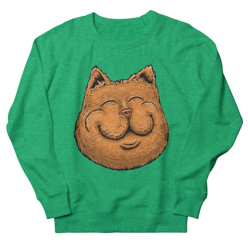 Happy Cat Women's French Terry Sweatshirt by Stiky Shop