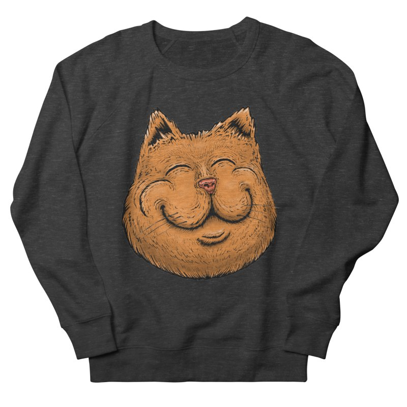 Happy Cat Men's French Terry Sweatshirt by Stiky Shop