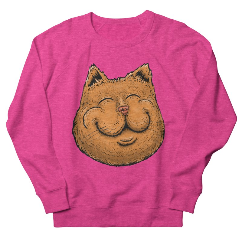 Happy Cat Men's French Terry Sweatshirt by Stiky Shop