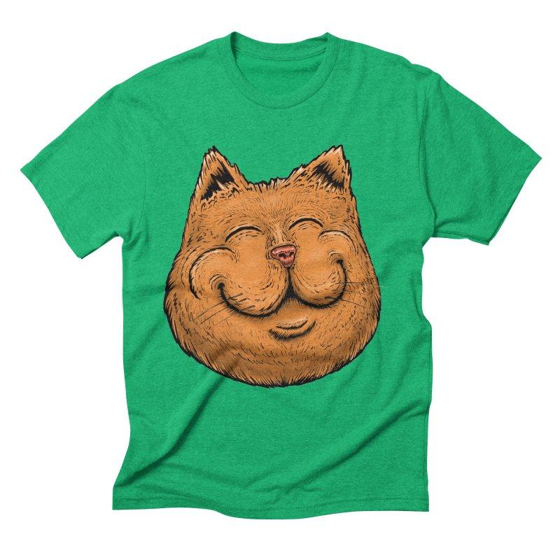 Happy Cat Men's Triblend T-Shirt by Stiky Shop