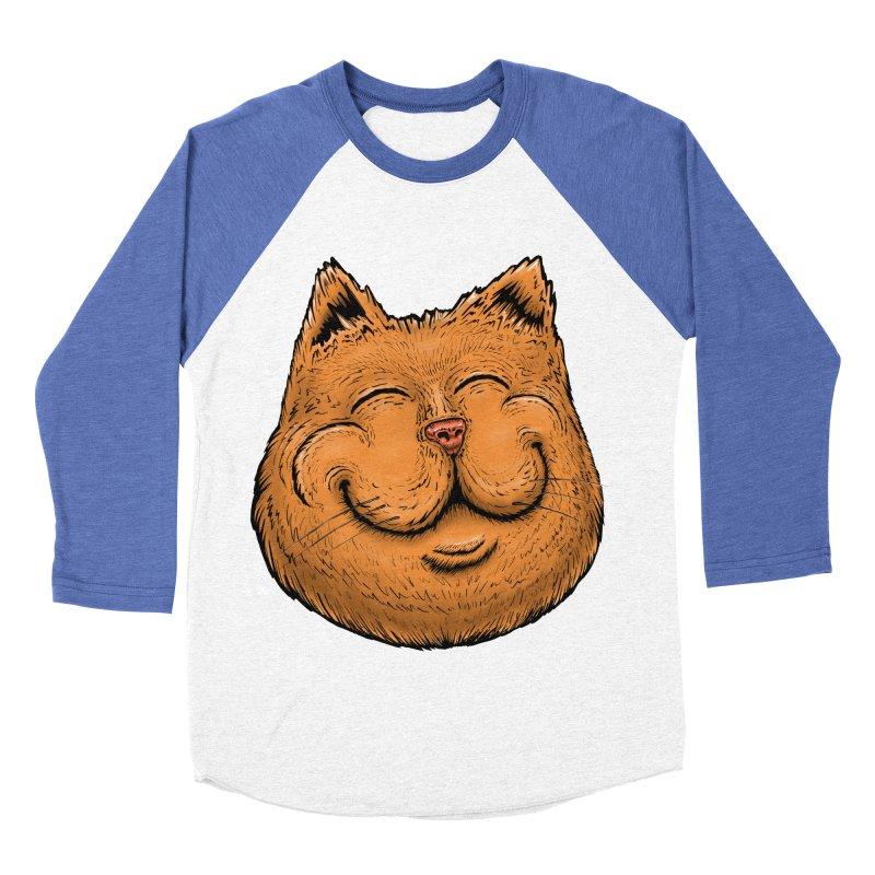 Happy Cat Women's Baseball Triblend Longsleeve T-Shirt by IDC Art House