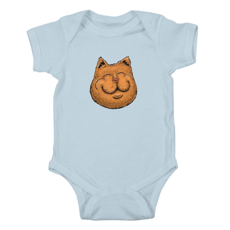 Happy Cat Kids Baby Bodysuit by Stiky Shop