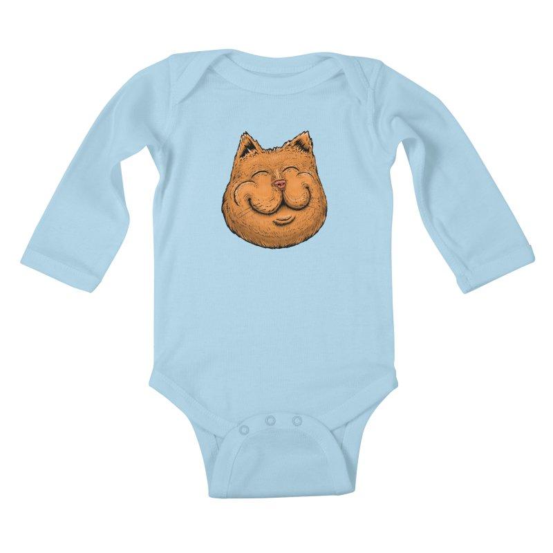 Happy Cat Kids Baby Longsleeve Bodysuit by IDC Art House