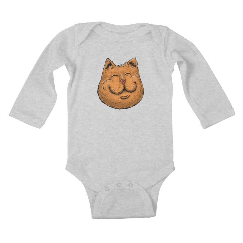 Happy Cat Kids Baby Longsleeve Bodysuit by Stiky Shop