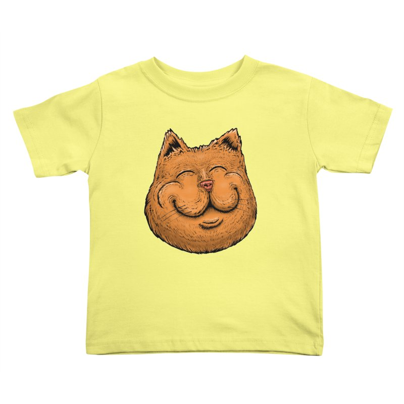 Happy Cat Kids Toddler T-Shirt by Stiky Shop