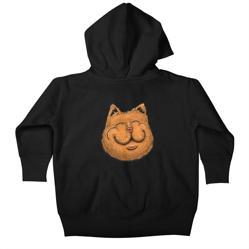 Happy Cat Kids Baby Zip-Up Hoody by IDC Art House