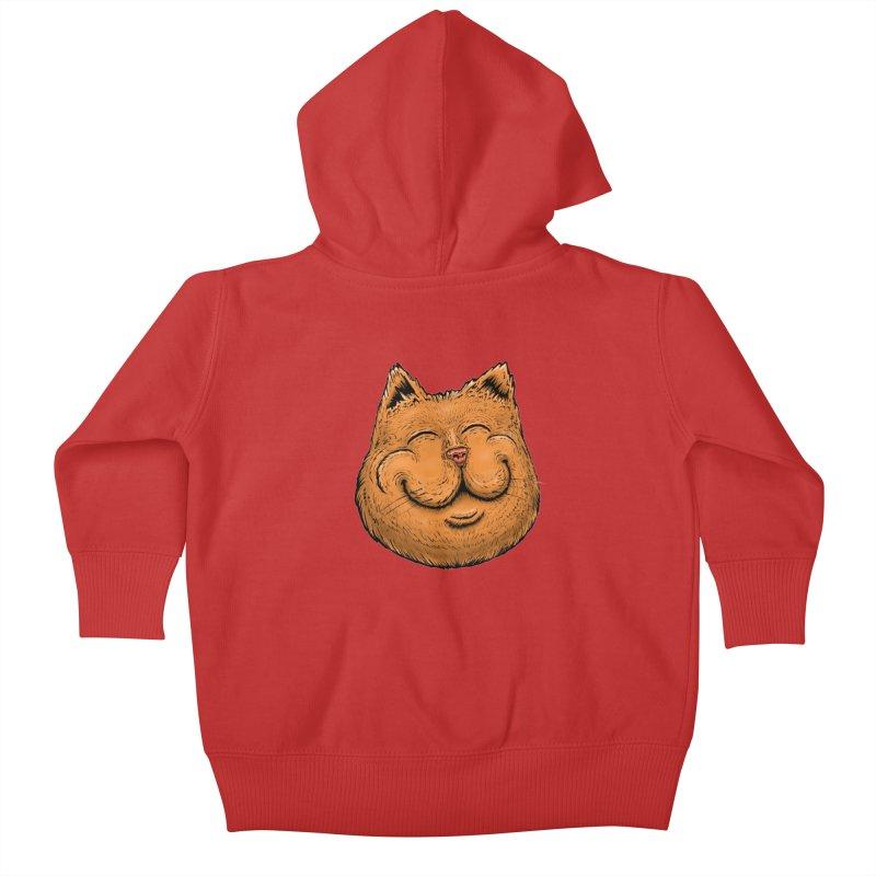 Happy Cat Kids Baby Zip-Up Hoody by Stiky Shop