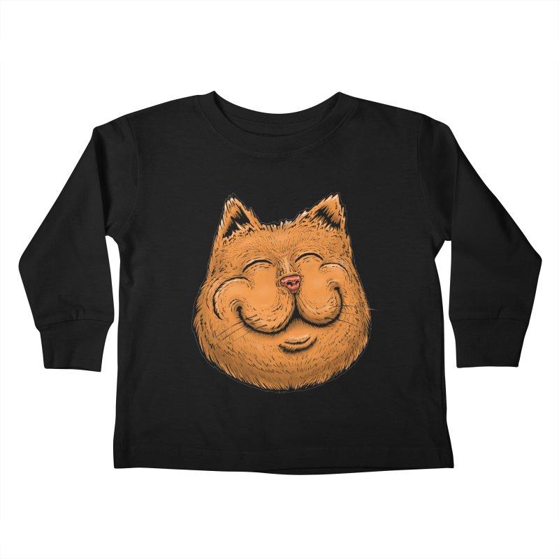 Happy Cat Kids Toddler Longsleeve T-Shirt by Stiky Shop