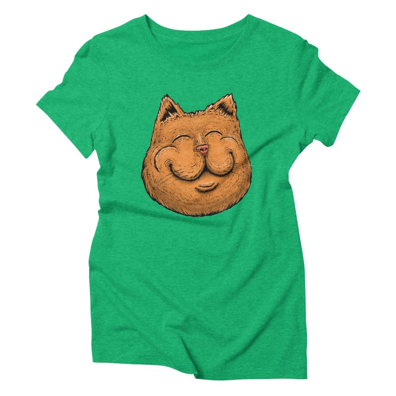 Happy Cat Women's Triblend T-Shirt by IDC Art House