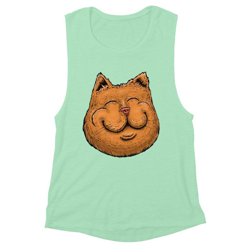 Happy Cat Women's Muscle Tank by Stiky Shop