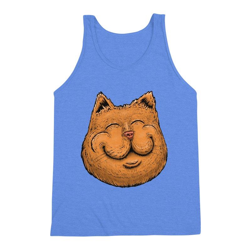 Happy Cat Men's Triblend Tank by Stiky Shop