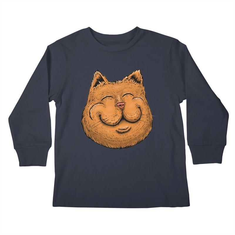 Happy Cat Kids Longsleeve T-Shirt by Stiky Shop