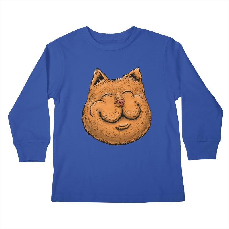 Happy Cat Kids Longsleeve T-Shirt by IDC Art House