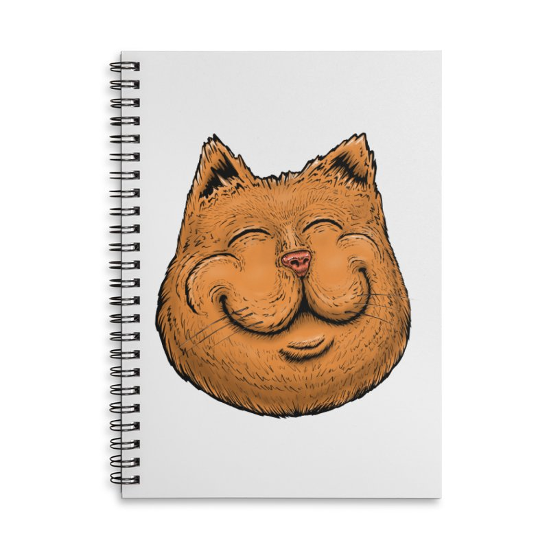 Happy Cat Accessories Lined Spiral Notebook by Stiky Shop
