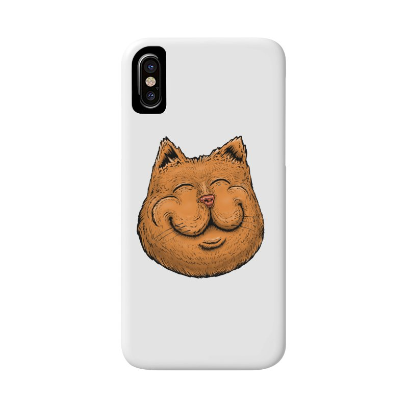 Happy Cat Accessories Phone Case by IDC Art House