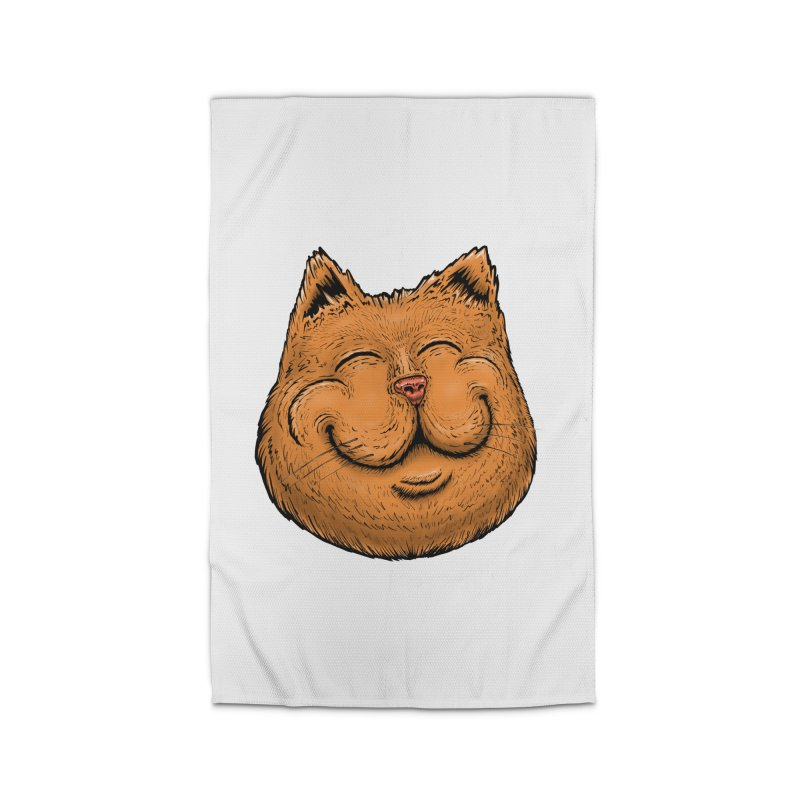 Happy Cat Home Rug by IDC Art House