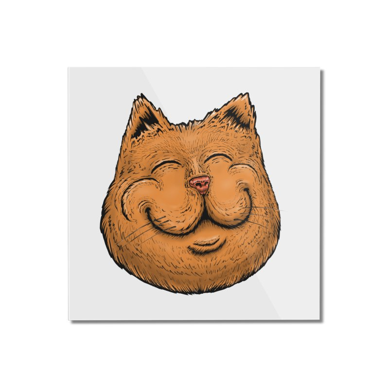 Happy Cat Home Mounted Acrylic Print by IDC Art House