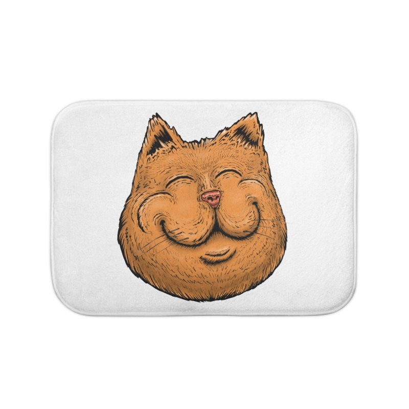 Happy Cat Home Bath Mat by Stiky Shop