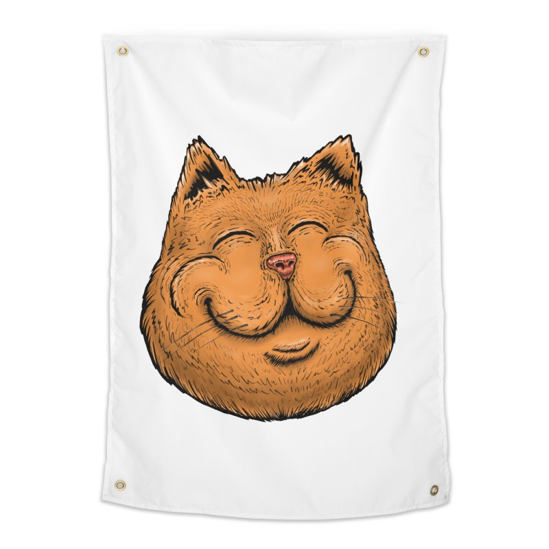 Happy Cat Home Tapestry by Stiky Shop