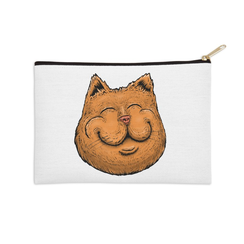 Happy Cat Accessories Zip Pouch by IDC Art House
