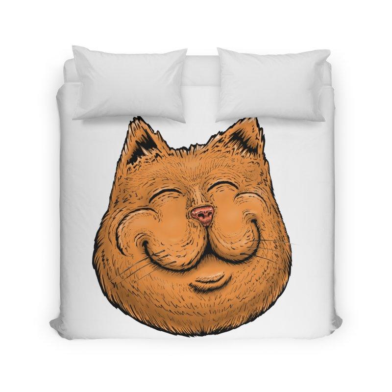 Happy Cat Home Duvet by Stiky Shop