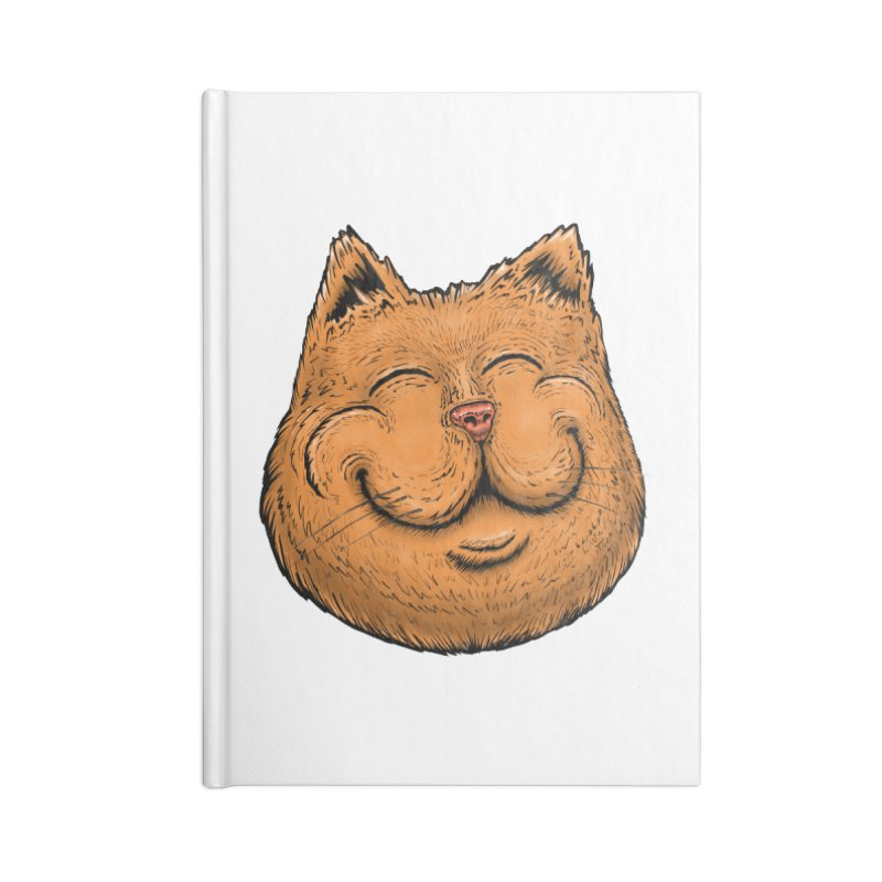 Happy Cat Accessories Blank Journal Notebook by Stiky Shop