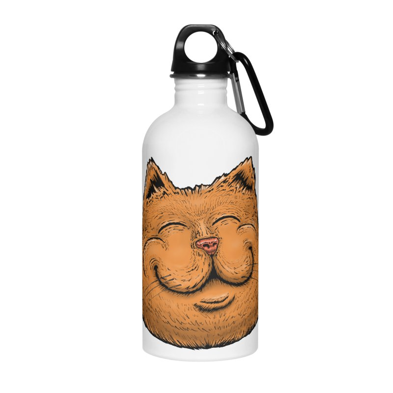 Happy Cat Accessories Water Bottle by IDC Art House