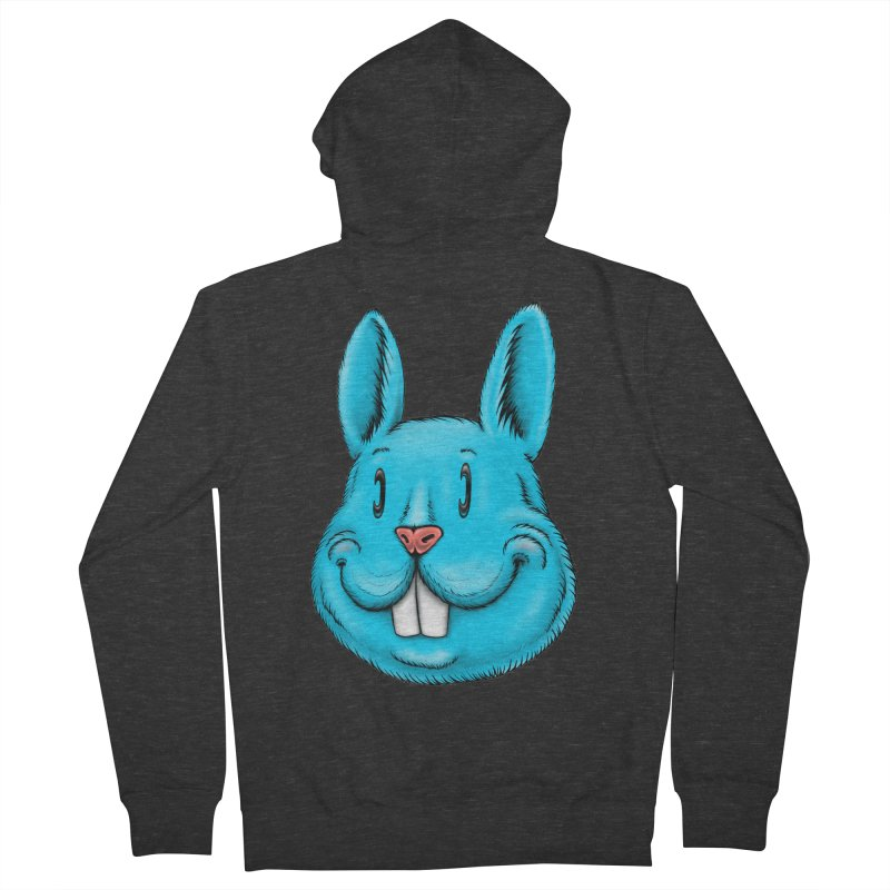 Bunny Men's French Terry Zip-Up Hoody by Stiky Shop