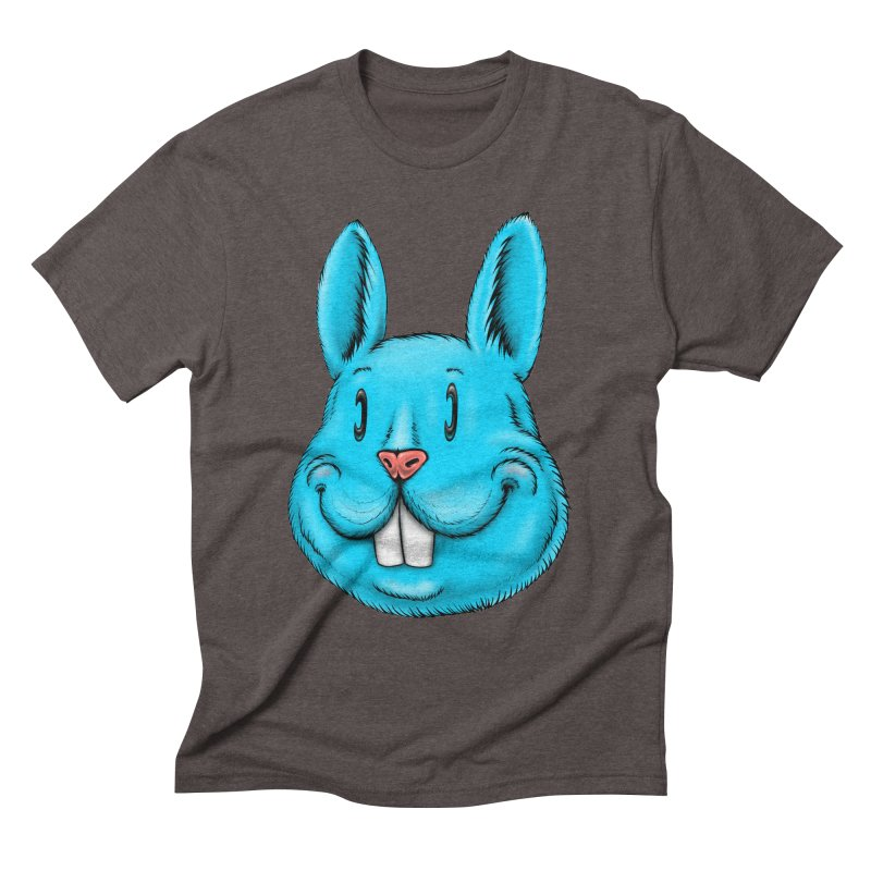 Bunny Men's Triblend T-Shirt by IDC Art House