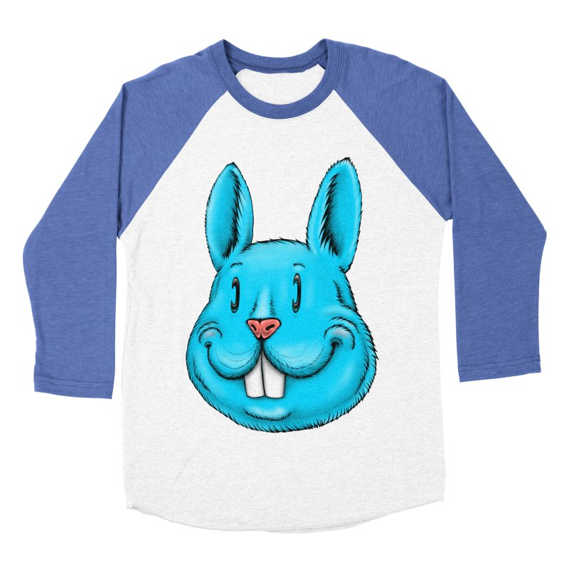 Bunny Men's Baseball Triblend Longsleeve T-Shirt by IDC Art House