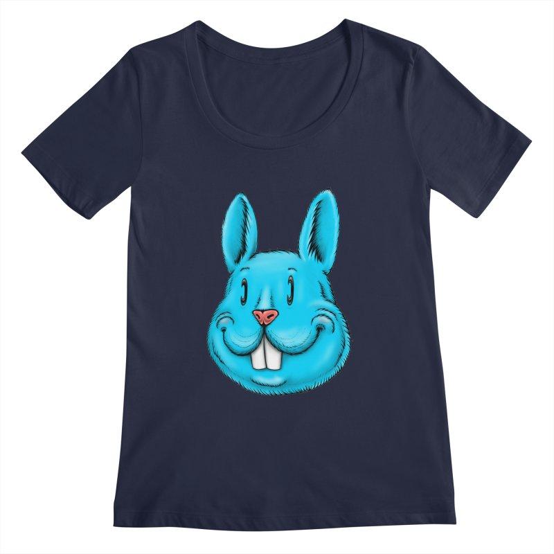 Bunny Women's Regular Scoop Neck by IDC Art House