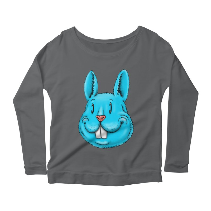 Bunny Women's Scoop Neck Longsleeve T-Shirt by Stiky Shop