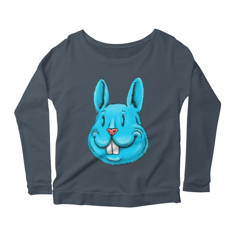 Bunny Women's Scoop Neck Longsleeve T-Shirt by Stiky Shop