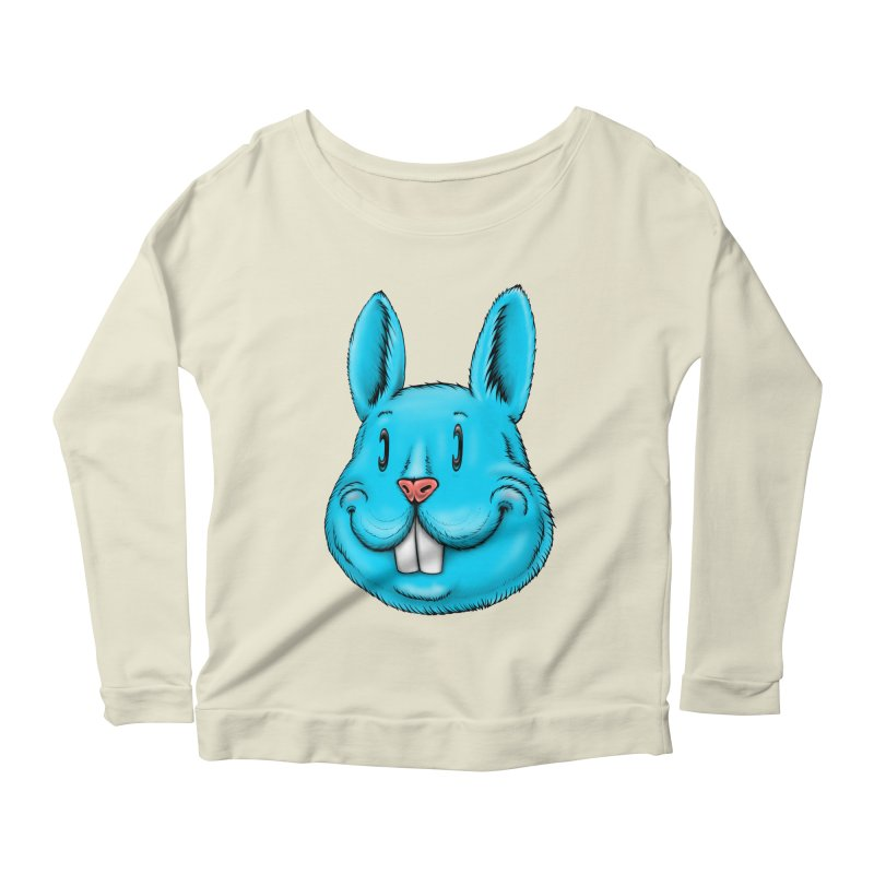 Bunny Women's Scoop Neck Longsleeve T-Shirt by IDC Art House