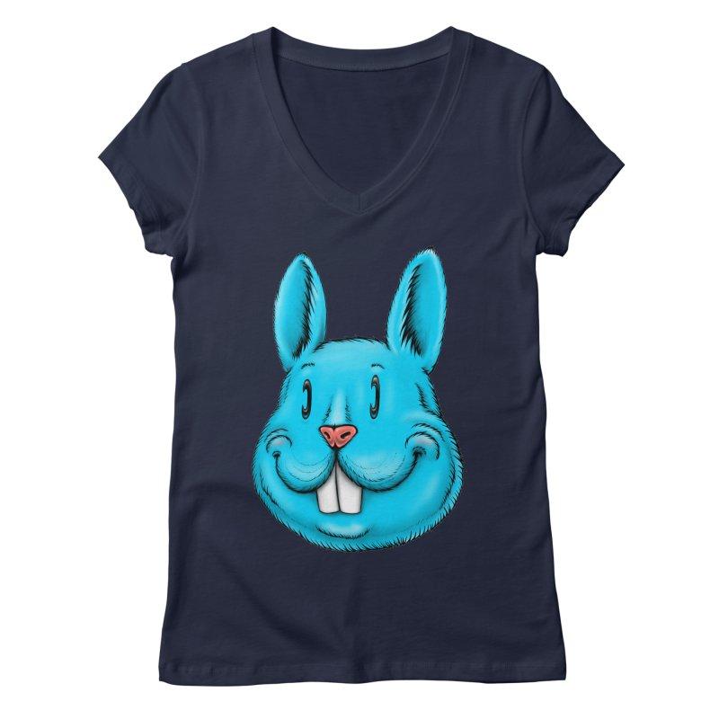 Bunny Women's Regular V-Neck by Stiky Shop